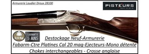 Juxtaposé-Fabarm-Nobile-Grade III-cal 20 mag-Contre platines-chokes inter -Ejecteurs-DESTOCKAGE -NEUF-Ref 11880