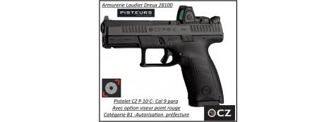 Pistolet CZ P 10C OPTIC READY Calibre 9 Para-Semi automatique-Catégorie B1-Promotion-Avec-Autorisation-Préfectorale-B1-Ref 780999