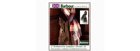 """Echarpes Barbour.Lambswool. Carreaux fond Rouge/Navy, ou Red /Navy.""""Promotions""""."""