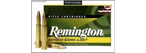 Cartouches-Remington-Core-Lock-grande-chasse-cal -35-Whelen-PSP-250-grains (16.20 g)-Ref 3269