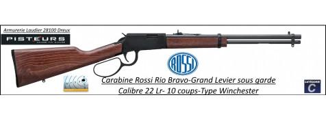 Carabine Rossi RIO BRAVO Calibre 22Lr Grand Levier sous garde type winchester 10 coups -Promotion-Ref 42243