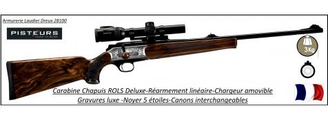 Carabines Chapuis ROLS Deluxe DROITER ou GAUCHER INTEGRALE -Calibre-300 winch mag-ou-7 Rem Mag-ou-9.6x62-ou-7x64- ou-30-06-ou-308-winch-ou-270-winch-ou-243-winch-ou-375-HH-Répétition-linéaire-Promotion