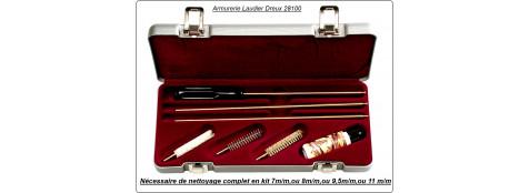 Coffret kit de nettoyage. Cal 6mm/ 243 winch, 7mm, 8mm, 9,5mm, 11mm