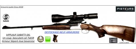 Carabine-Kipplauf-Sabatti-Cal 7x65R-SKL-Luxe-Italie-DESTOCKAGE-NEUF-ARMURERIE-Ref Kipplauf-Sabatti-Cal-7x65R