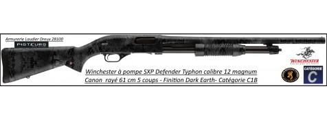Fusil pompe Winchester SXP defender  Typhon Calibre 12 Magnum Canon rayé 61cm-5 coups-Promotion-Ref 512383389