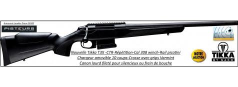 Carabine-Tikka-Tactical-T3X-TCR-compact-Calibre-308 winch-Répétition-Canon-fileté-pour-silencieux-ou-frein de bouche-Promotion-Ref 28489