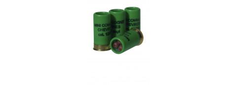Cartouches défense-Balles et chevrotines caoutchouc et à blanc-Calibre 12-Longueur 50 mm-pour  pistolets-Gom cogne- GC 27- GC 54