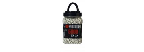 Pot-billes-5000-blanches- Cal. 6 mm, 0,20 g-soft air- Ref 11764