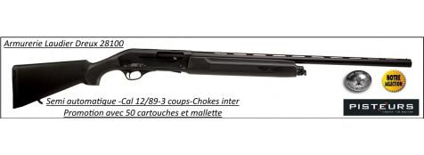 Semi-auto-UNIFRANCE-CFA -TIGRIS-COMPOSITE-Cal-12 MAG-89- Pour  tirs longues distances-Canon de 71 cm + kit promotion 50 cartouches et mallette-Ref 12909