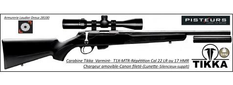 Carabine TIKKA T1X  MTR Calibre 22 Lr ou 17 HMR Varmint et GAUCHER INTEGRALE Répétition -Promotion