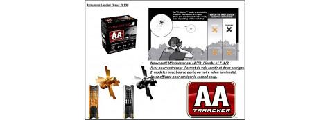 Cartouches Winchester---AA -TrAAcker-TM--- Bourres noires- ou oranges vif-Cal 12/70-32 gr ---Bte de 25 - Plomb n°7 .1/2---Permet de VOIR VOTRE TIR