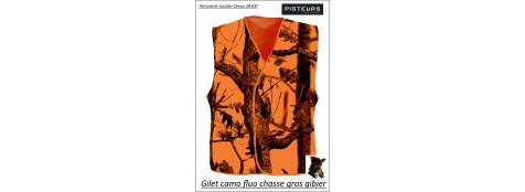 Gilet fluo camo taillesM-L XL-XXL-grande-visibilité-Ref 10237-ea -vc71513-VC71512
