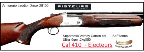 Superposé Vercar Calibre 410 Verney Carron EJECTEURS-St Etienne- Monodétente-Chokes inter-Promotion-Ref 29573 ter-32312-SVERCAR410-