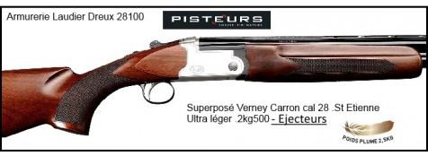 """Superposé Vercar  Verney Carron St Etienne-Cal 28- EJECTEURS- Monodétente-Chokes inter.""""Promotion"""".Ref 29573 bis-SVERCAR28-"""