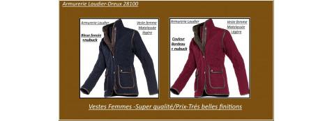 Vestes Femme Hepburn-Bleues ou Bordeau - Baleno-Tailles -S-M-L-XL-XXL-Promotions