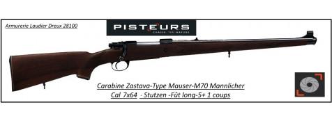 Carabine-Zastava-M70-Mannlicher-Calibre-7x64-Répétition-Stutzen-fût-long-Promotion-Ref 32293-7798