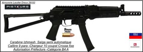 Carabine Izhmash Saïga 9K Calibre 9 Para-semi-automatique canon 237 mm-Autorisation-Préfectorale-B4-Ref ZE1221-ea